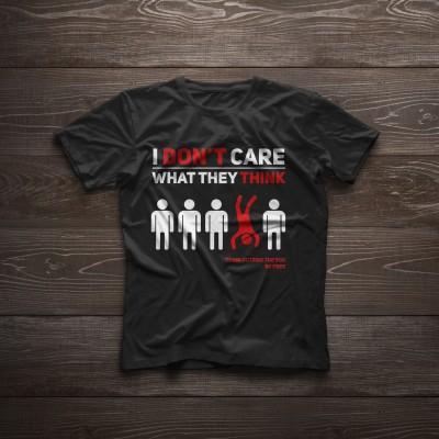 T-shirt 'I don't care'