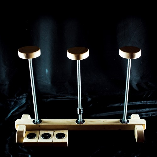 Triple collapsible canes